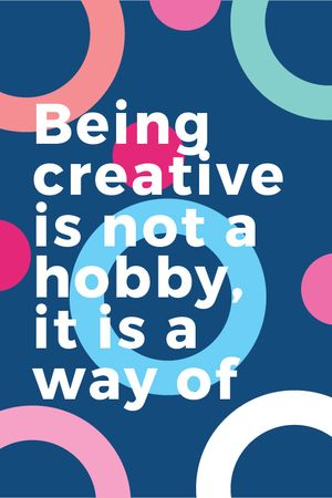 Plantilla de diseño de Creativity Quote on Colorful circles pattern Tumblr
