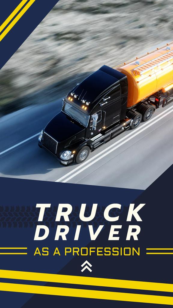 Delivery Service Truck on a Road — Modelo de projeto