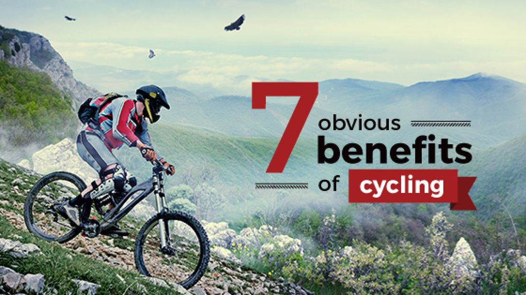 benefits of cycling motivation poster  — Crear un diseño