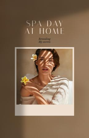 Woman on Spa day at home IGTV Cover Tasarım Şablonu