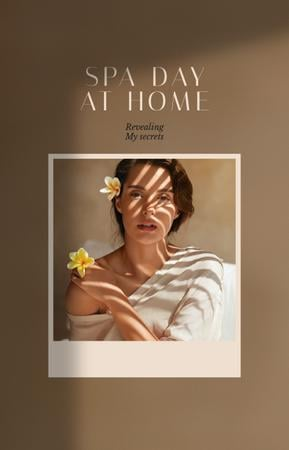 Woman on Spa day at home IGTV Cover Design Template
