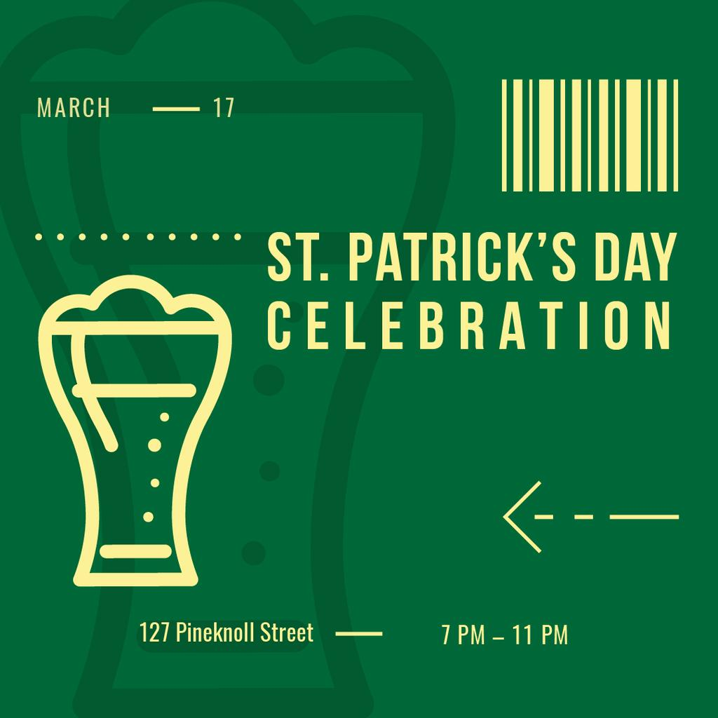 Annoucement of St.Patricks Day Celebration —デザインを作成する