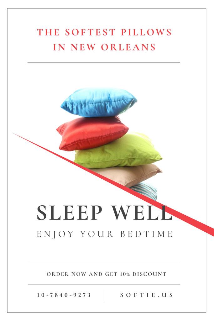 Textile Pillows Offer on White Tumblr – шаблон для дизайну