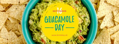 Template di design Mexican guacamole dish Day Facebook cover