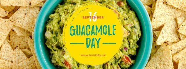 Ontwerpsjabloon van Facebook cover van Mexican guacamole dish Day