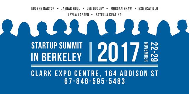 Plantilla de diseño de Startup Summit Announcement with Businesspeople Silhouettes Twitter