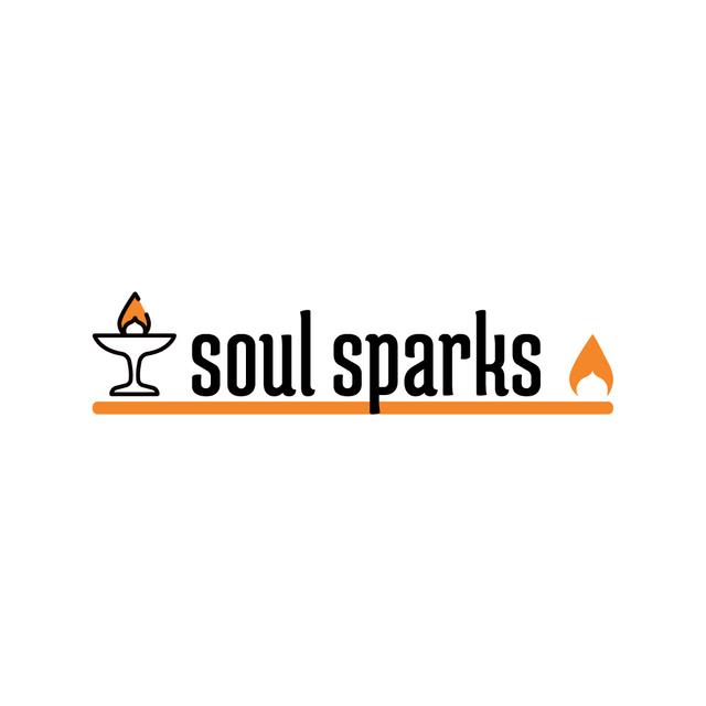 Modèle de visuel Religious Icon Glowing Flame - Logo