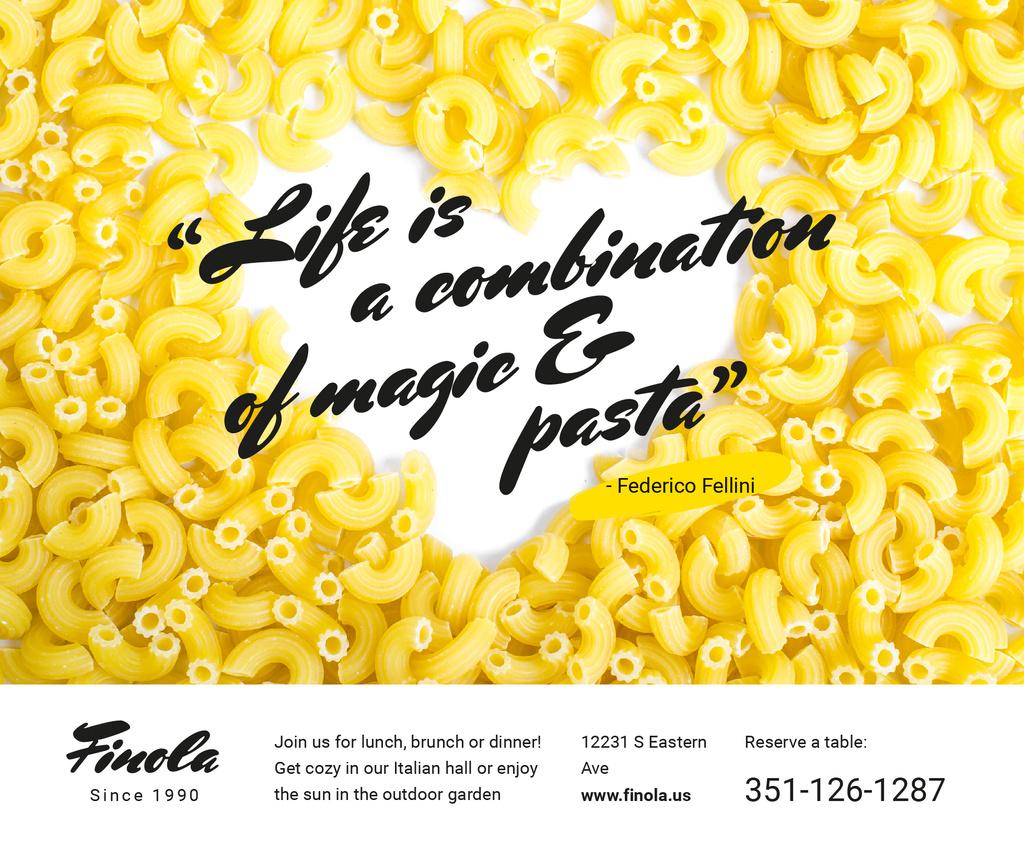 Italian Pasta Quote on Heart — Créer un visuel