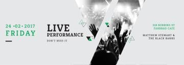 Live Performance Announcement Crowd at Concert | Tumblr Banner Template
