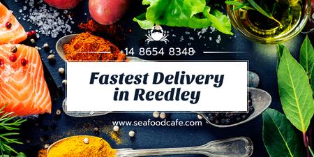 fastest food delivery banner Image Design Template