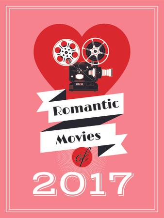Plantilla de diseño de Romantic movies poster Poster US