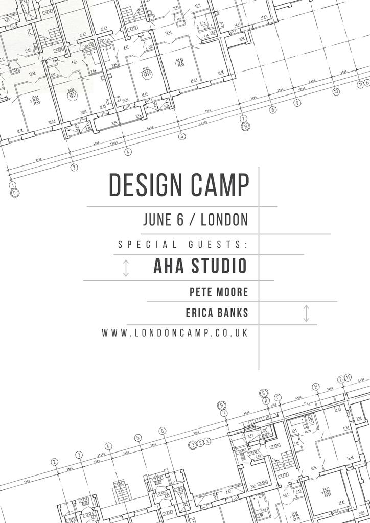 Design camp in London Poster Modelo de Design