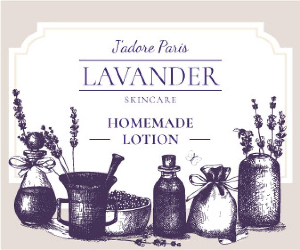 Lavender skincare illustration Large Rectangle Design Template