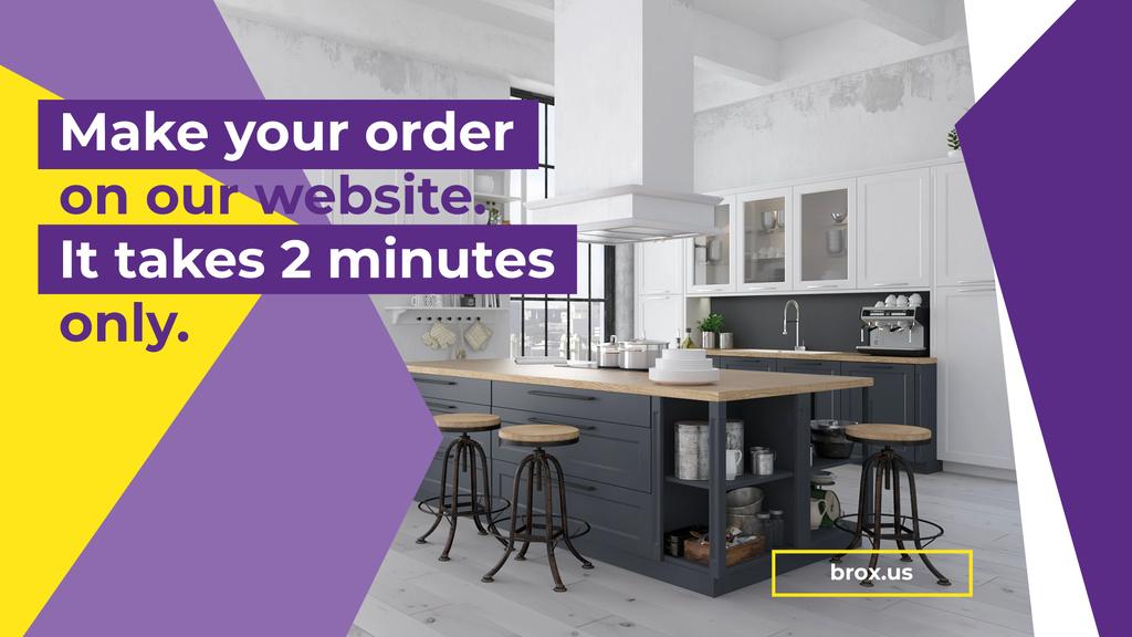 Modern Home Kitchen Interior — Créer un visuel