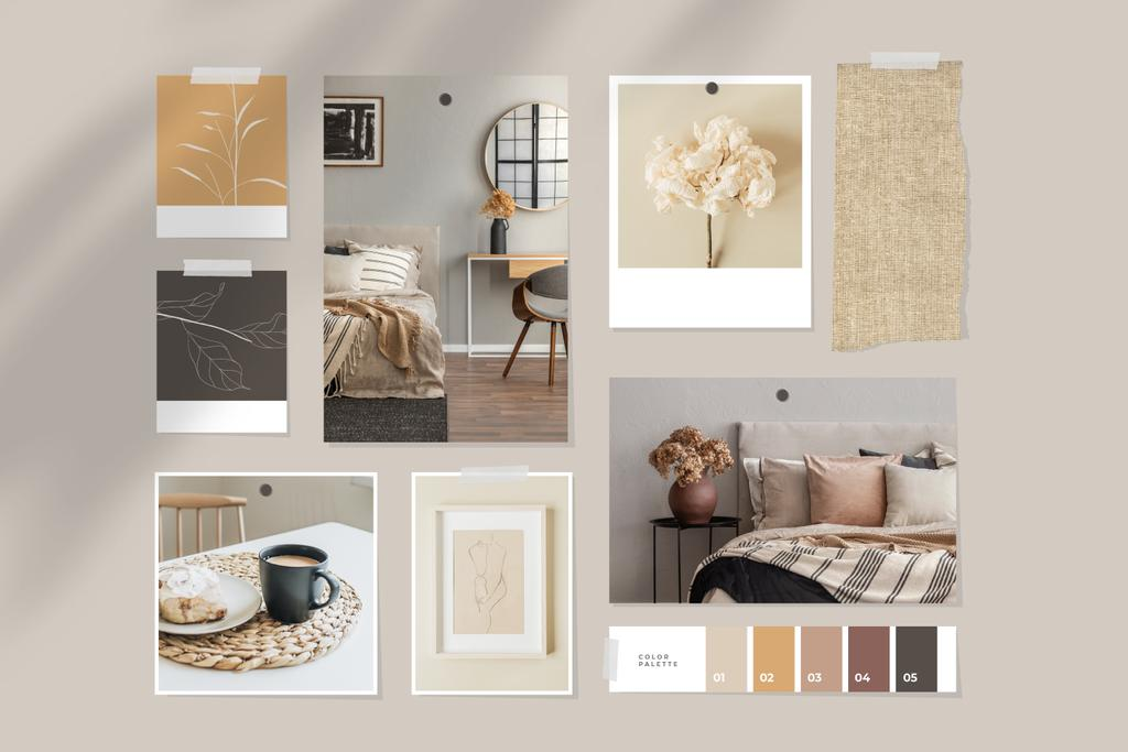 Cozy interior in natural colors —デザインを作成する