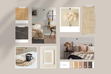 Cozy interior in natural colors