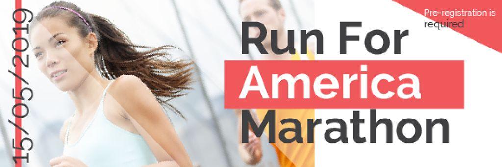 America Marathon poster — Modelo de projeto