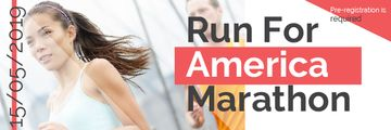America Marathon poster