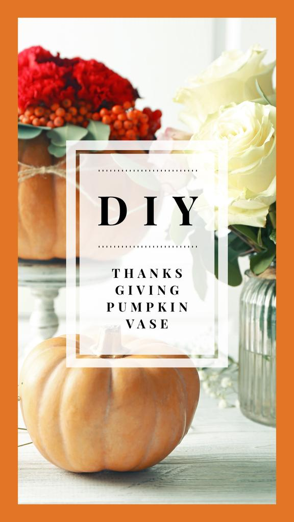 Thanksgiving Decorative Small Pumpkins Vases | Stories Template — Создать дизайн