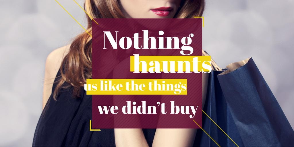Quotation about shopping haunts Twitter – шаблон для дизайну