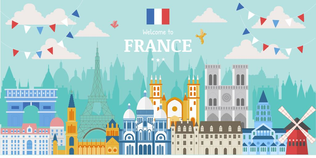 Welcome to France illustration — Crear un diseño