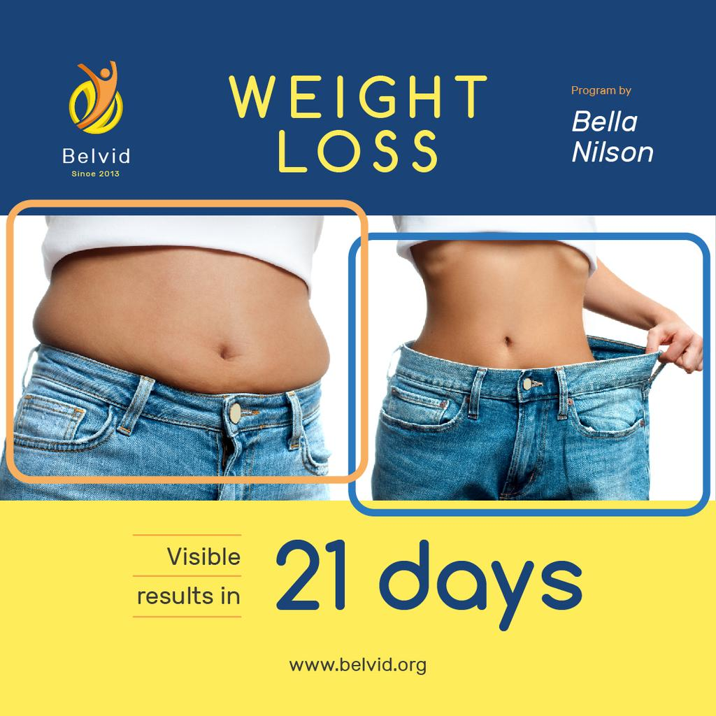 Weight Loss Program Ad with Before and After Photo — Create a Design