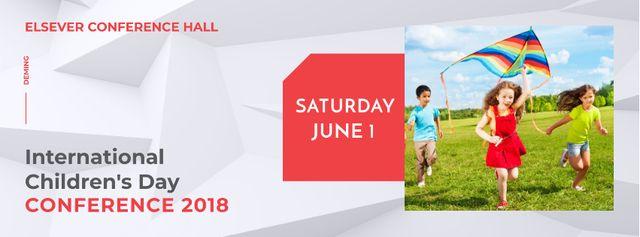 Plantilla de diseño de Conference in International Children's Day Facebook cover