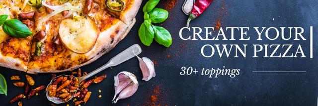 Modèle de visuel Create your own pizza poster - Twitter
