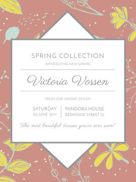 Fashion Spring collection ad with flowers