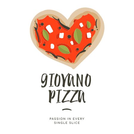 Modèle de visuel Heart-Shaped Pizza for restaurant promotion - Logo