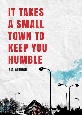 Small Town inspiration quote Flayer – шаблон для дизайну