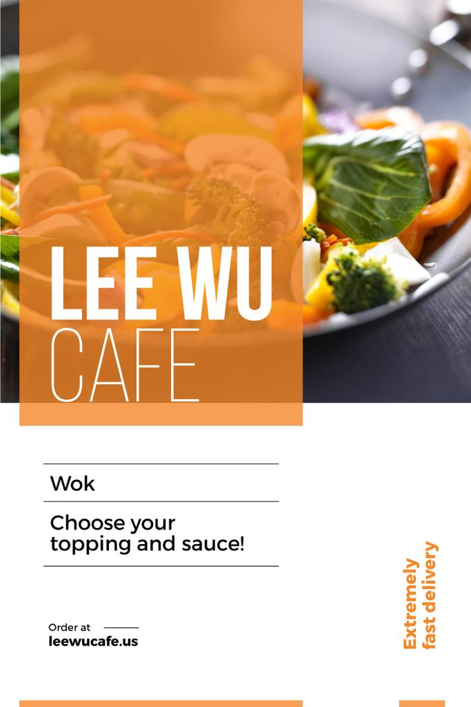 advertisement card for wok cafe — Create a Design