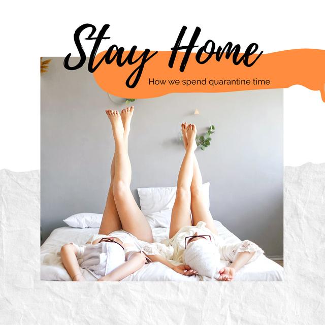 Staying home during Quarantine Photo Book – шаблон для дизайну