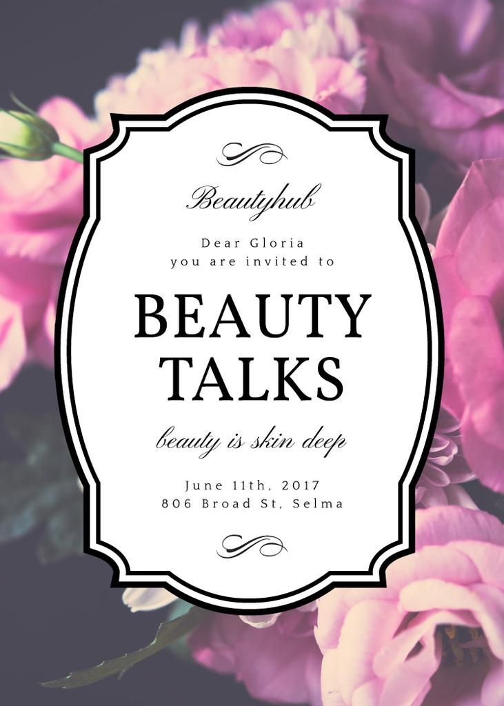 Beauty Event announcement on tender Spring Flowers — Crea un design