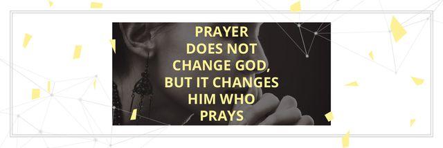 Plantilla de diseño de Religion citation about prayer Email header