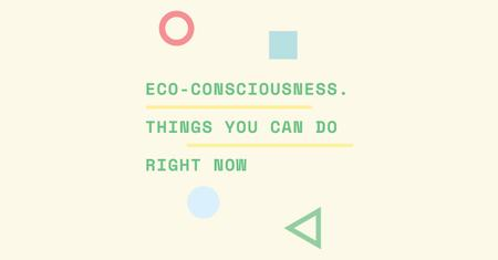 Modèle de visuel Eco-consciousness concept - Facebook AD