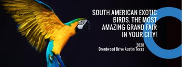 Exotic Birds Shop Ad Flying Parrot | Facebook Cover Template