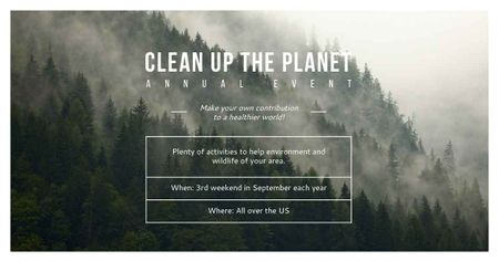 Ontwerpsjabloon van Facebook AD van Clean up the Planet Annual event