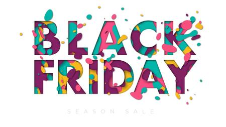 Plantilla de diseño de Black Friday inscription Full HD video