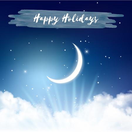 Plantilla de diseño de Shiny moon in night sky Animated Post