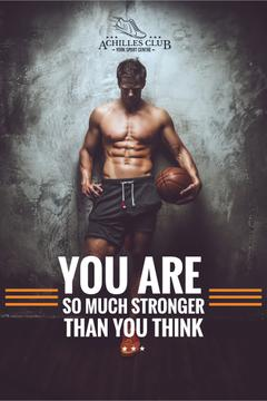 Sport Center Ad Basketball Player | Pinterest Template