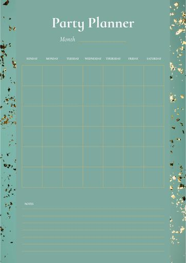 Party Planner On Golden Bright Confetti