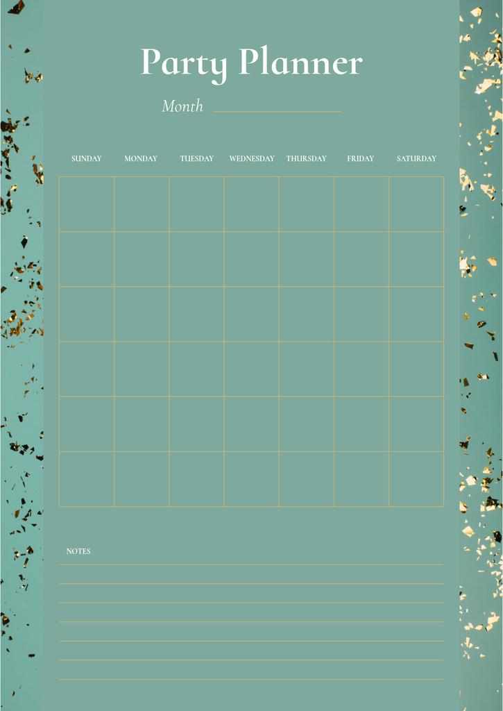 Party Planner on Golden Bright Confetti — Створити дизайн