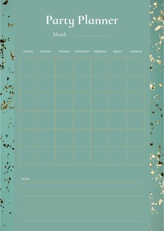 Modèle de visuel Party Planner on Golden Bright Confetti - Schedule Planner