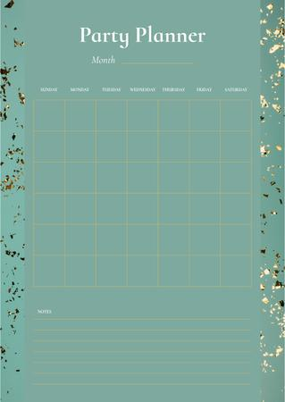 Ontwerpsjabloon van Schedule Planner van Party Planner on Golden Bright Confetti