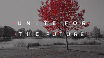 Ecology Quote with Scenic Autumn park
