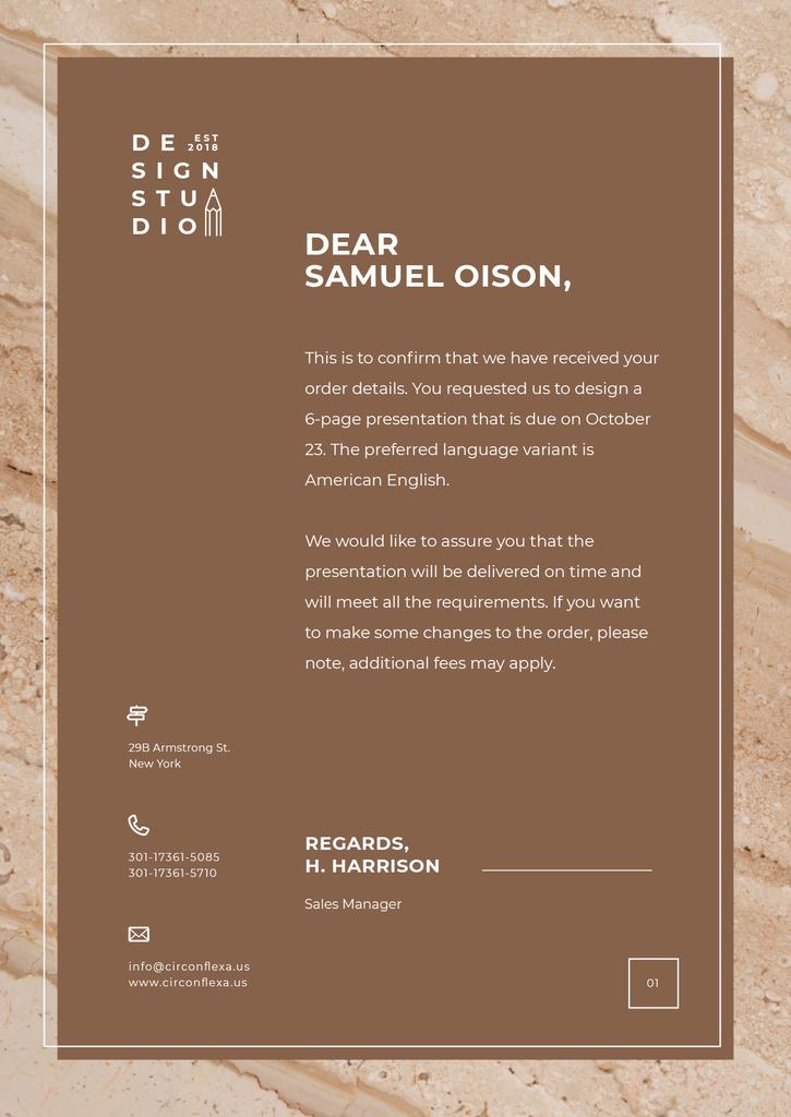 Design Agency official request — ein Design erstellen