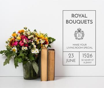 Royal bouquets workshop advertisement