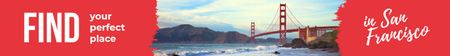 Plantilla de diseño de San Francisco Scenic Bridge View Leaderboard
