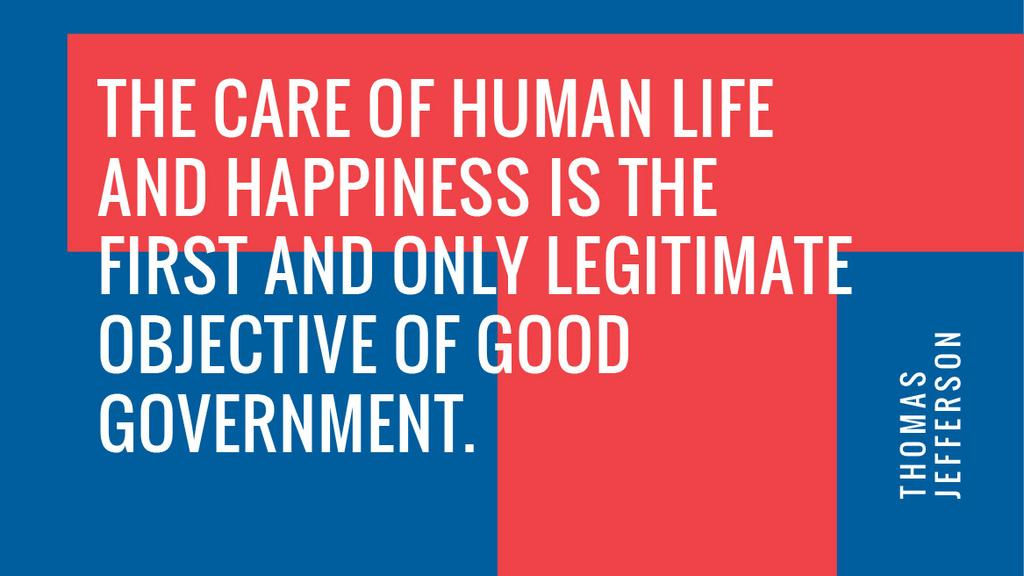 Government Quote on blue and red — Maak een ontwerp